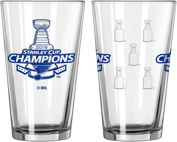 St Louis Blues Stanley Cup Champions Pint Glass 16oz. NHL