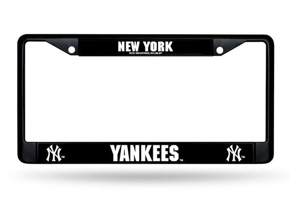 New York Yankees Black Chrome License Plate Frame MLB