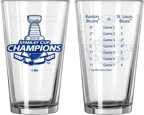 St Louis Blues Stanley Cup Champions Summary Pint Glass 16oz. NHL