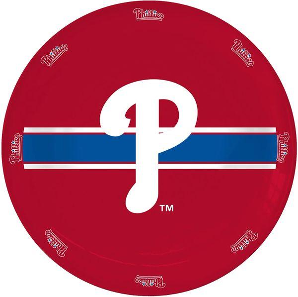 "Philadelphia Phillies Ceramic Serving Plate 11"" MLB"