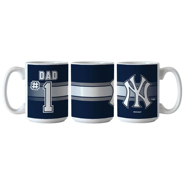 New York Yankees #1 DAD Ceramic Coffee Mug MLB