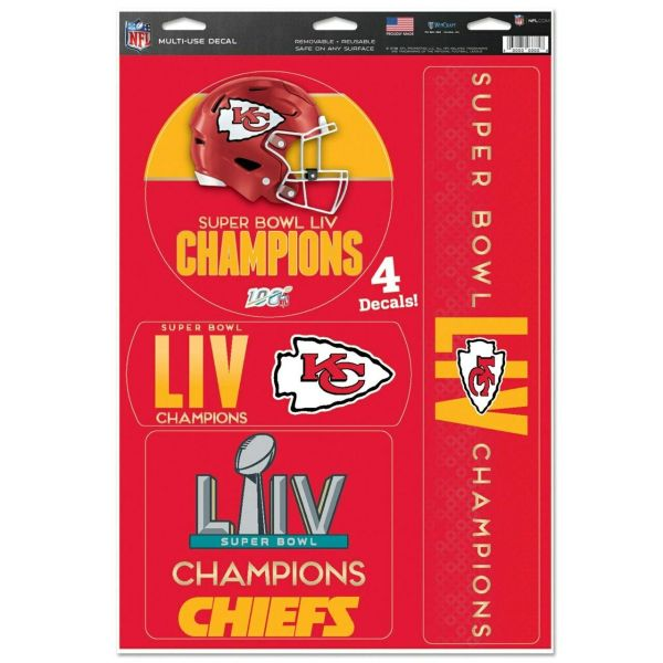 Kansas City Chiefs Super Bowl LIV Multi Use Decals Stickers
