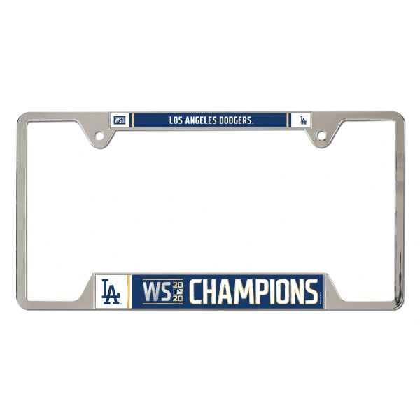 Los Angeles Dodgers Metal World Series Champions License Plate Frame MLB