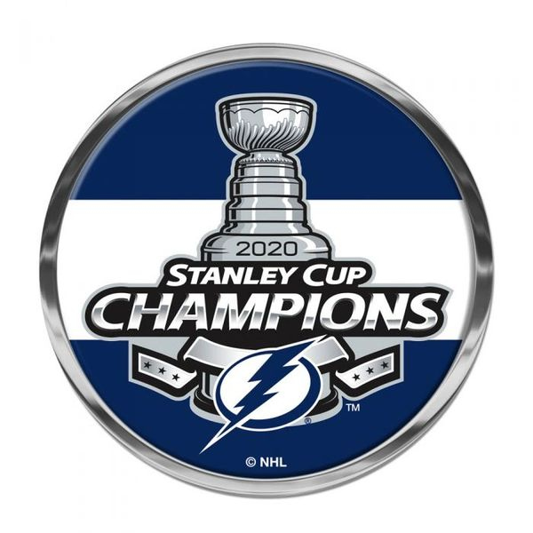 Tampa Bay Lightning 2020 Stanley Cup Champions Chrome Metal Emblem NHL