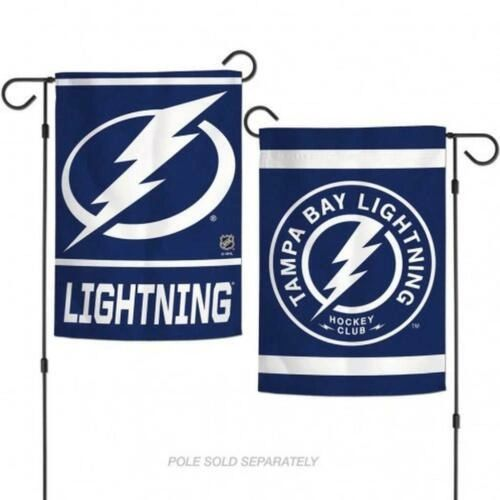 "Tampa Bay Lightning 2 Sided Garden Flag 12"" x 18"""