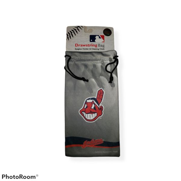 Cleveland Indians WAHOO Sunglasses Bag and Cleaning Cloth