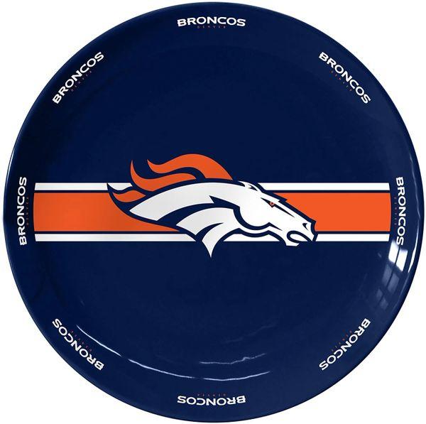 """Denver Broncos Team Logo Ceramic Serving Plate 11"""""""