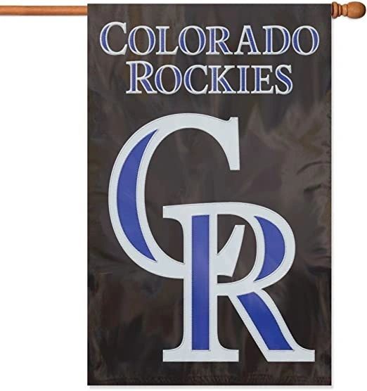 Colorado Rockies House Flag 2 Sided Embroidered Vertical - Wall Bannner