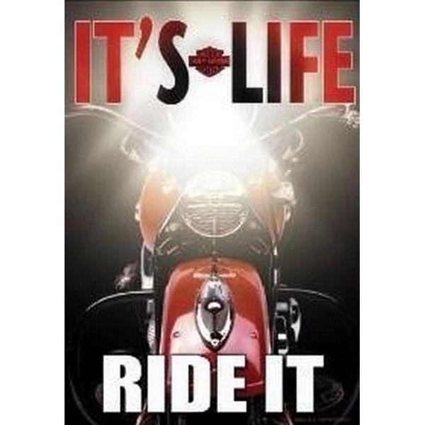 "Harley Davidson ""Its Life"" Garden Flag"