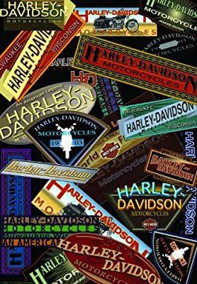 """Harley Davidson """"Collage"""" Garden Flag"""