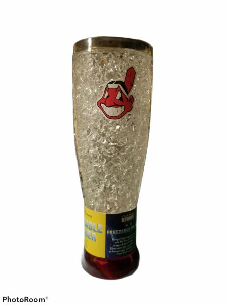 Cleveland Indians Chief WAHOO Crystal Freezer Pilsner MLB