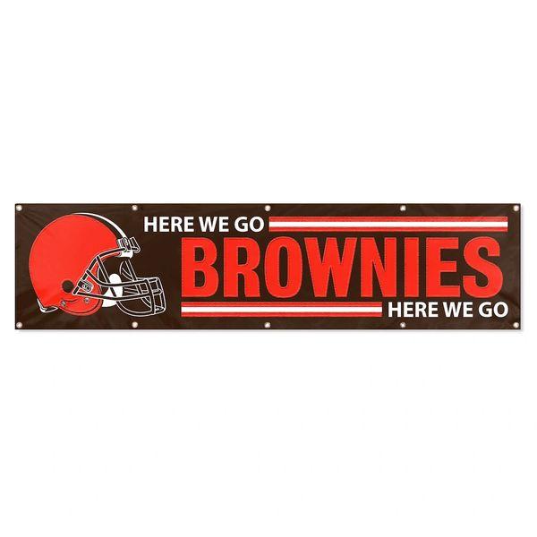 Cleveland Browns 2' x 8' Wall Banner Flag NFL Licensed