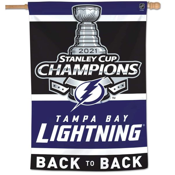 """Tampa Bay Lightning Stanley Cup Champions Vertical Flag 28"""" x 40"""""""