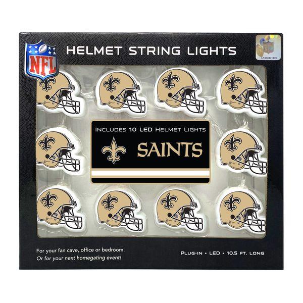 New Orleans Saints LED String Lights Helmet Design