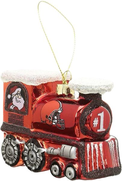 Cleveland Browns Christmas Tree Ornament - Train