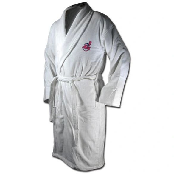 Cleveland Indians CHIEF WAHOO Embroidered Terrycloth Robe One Size