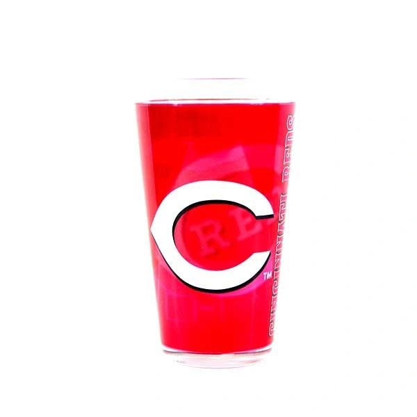 "Cincinnati Reds ""Shadow"" 16oz Pint Glass 16oz. MLB"