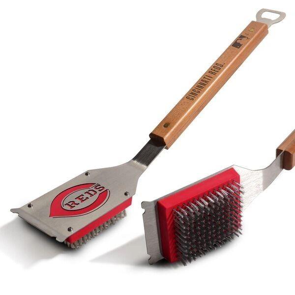 Cincinnati Reds BBQ Grill Brush w/ Bottle Opener MLB