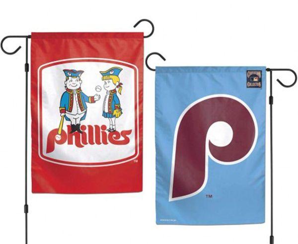 "Philadelphia Phillies Retro Garden Flag, 2 Sided - 12"" x 18"""