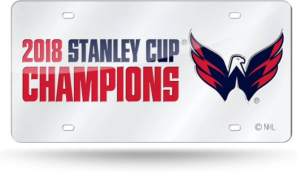 Washingon Capitals Stanley Cup Champions Front Tag - Acrylic