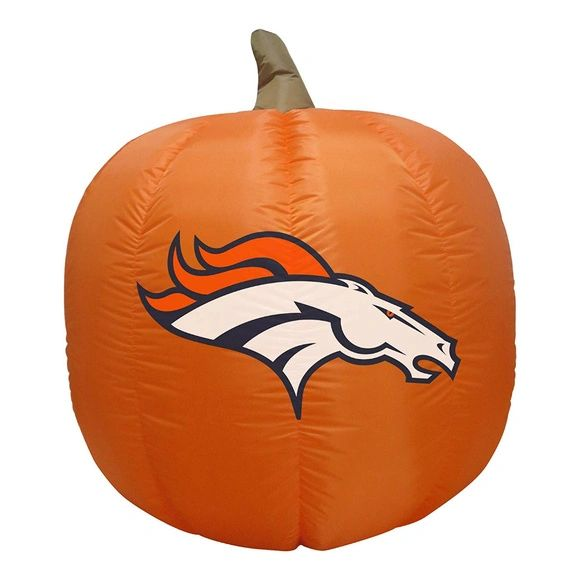 Denver Broncos 4' Inflatable Pumpkin