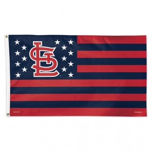 St Louis Cardinals Stars and Stripes Wall Banner Flag 3' x 5'