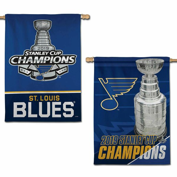 St Louis Blues 2019 Stanley Cup Champions 2 sided Vertical Flag