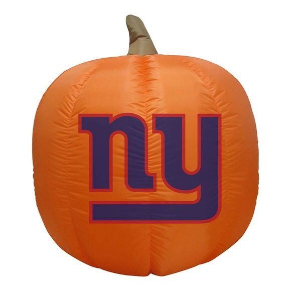 New York Giants 4' Inflatable Pumpkin
