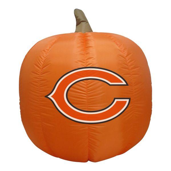 Chicago Bears 4' Inflatable Pumpkin