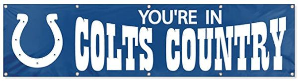 Indianapolis Colts 2' x 8' Banner Flag Wall NFL Licensed