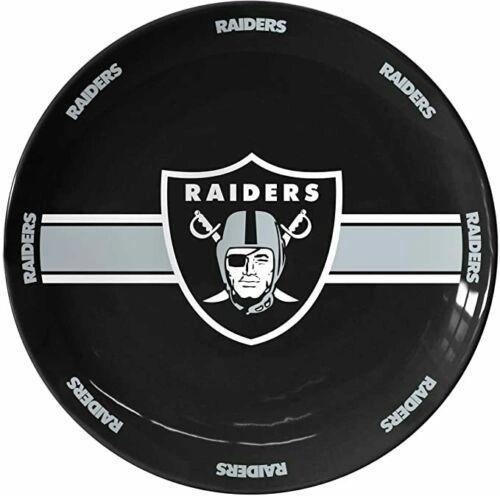 "Oakland - Las Vegas Raiders Team Logo Ceramic Serving Plate 11"""