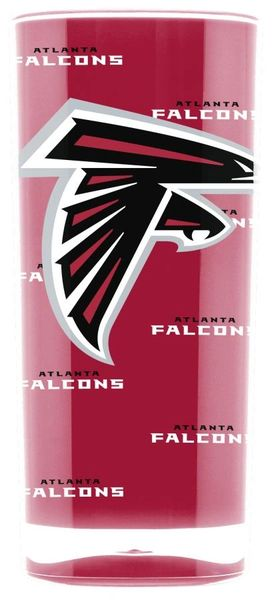 Atlanta Falcons Acrylic Tumbler Cup 20oz Square Insulated NFL Licensed