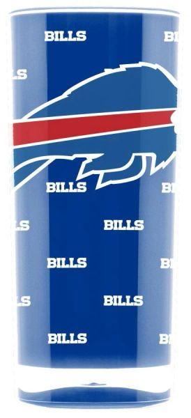 Buffalo Bills Acrylic Tumbler Cup 20oz. Square Insulated/Shatterproof NFL Licensed FREE SHIPPING