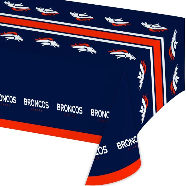 NFL Denver Broncos Tablecloth Table Cover By Creative Converting