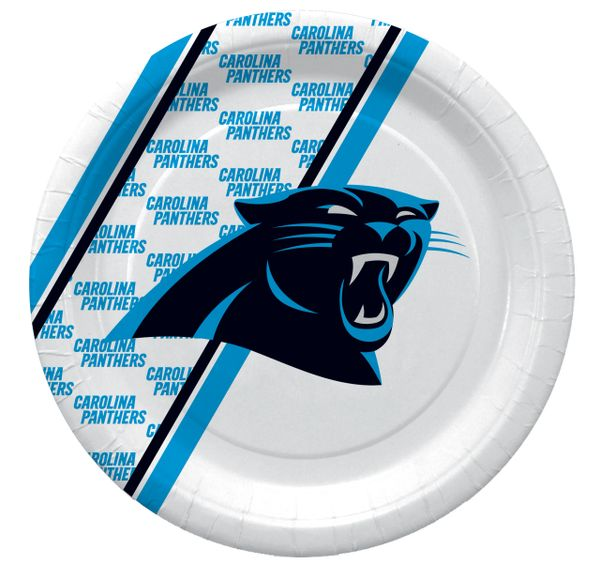 "NFL Carolina Panthers 10"" Disposable Paper Plates 20 Count"