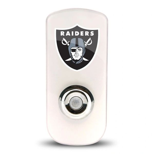 Oakland Raiders Night Light LED Flash Lightw/ Built In Sensor NFL
