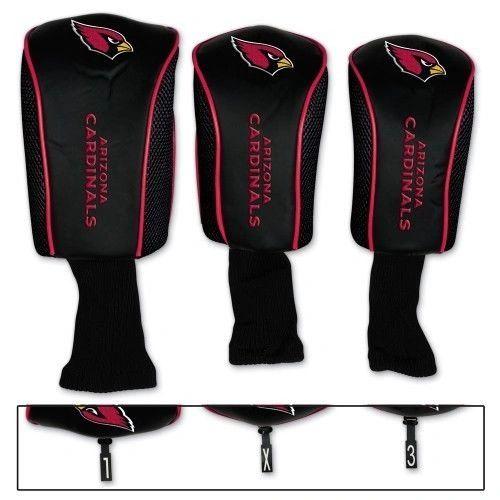 Arizona Cardinals Golf Club Covers 3 pack NFL Licensed
