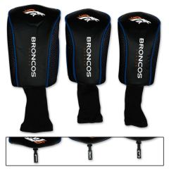 Denver Broncos Golf Club Covers 3 pack NFL Licensed