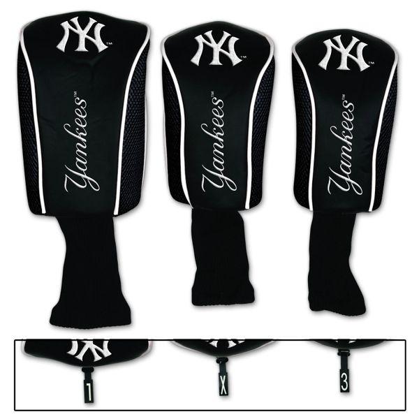 New York Yankees Golf Club Covers 3 pack MLB Licensed