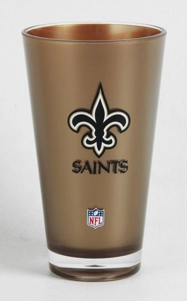 New Orleans Saints Round Tumbler Cup 20oz Insulated/Shatterproof NFL