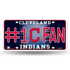 Cleveland Indians #1 Fan Metal License Plate Tag Bling MLB Licensed