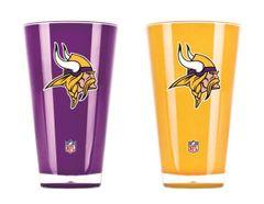 "Minnesota Vikings Tumblers Cups 2 Pack Set ""On Field Colors"" NFL"