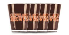 Cleveland Browns Shot Glasses 4 Pack Insulated NFL