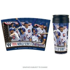 Chicago Cubs 2016 World Series Champions Travel Coffee Mug Cup MLB Licensed