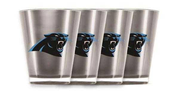 Carolina Panthers Shot Glasses 4 Pack Shatterproof NFL