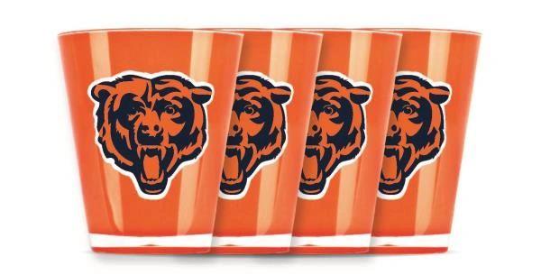 Chicago Bears Shot Glasses 4 Pack Shatterproof NFL