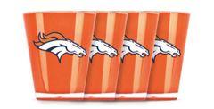 Denver Broncos Shot Glasses 4 Pack Shatterproof NFL