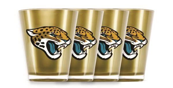 Jacksonville Jaguars Shot Glasses 4 Pack Shatterproof NFL