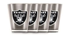 Oakland Raiders Shot Glasses 4 Pack Shatterproof NFL