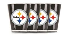 Pittsburgh Steelers Shot Glasses 4 Pack Shatterproof NFL